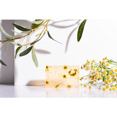 Săpun handmade cu ulei de măsline și extract de mușețel 100g