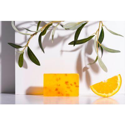 Săpun handmade cu ulei de măsline și ulei esențial de portocală 100g